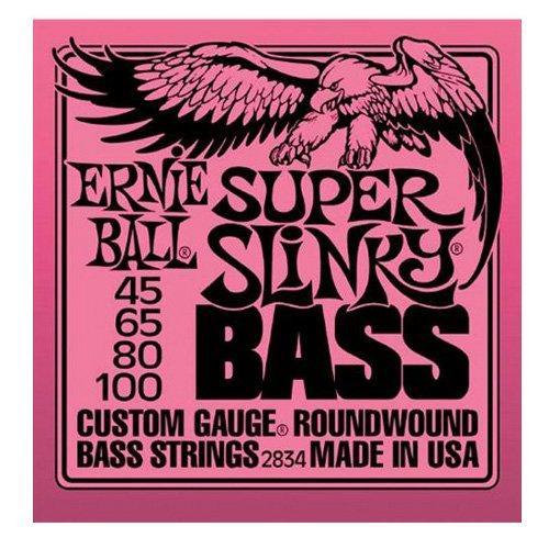 Ernie Ball Super Slinky Nickel Round Wound Bass Set, .045 - .100 from Ernie Ball