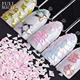 POYING Full Beauty 1g Holo 3D Super Shiny Triangle Paillette Nail Art Decorations AB Chameleon Nail Glitter Sequins CH01-12