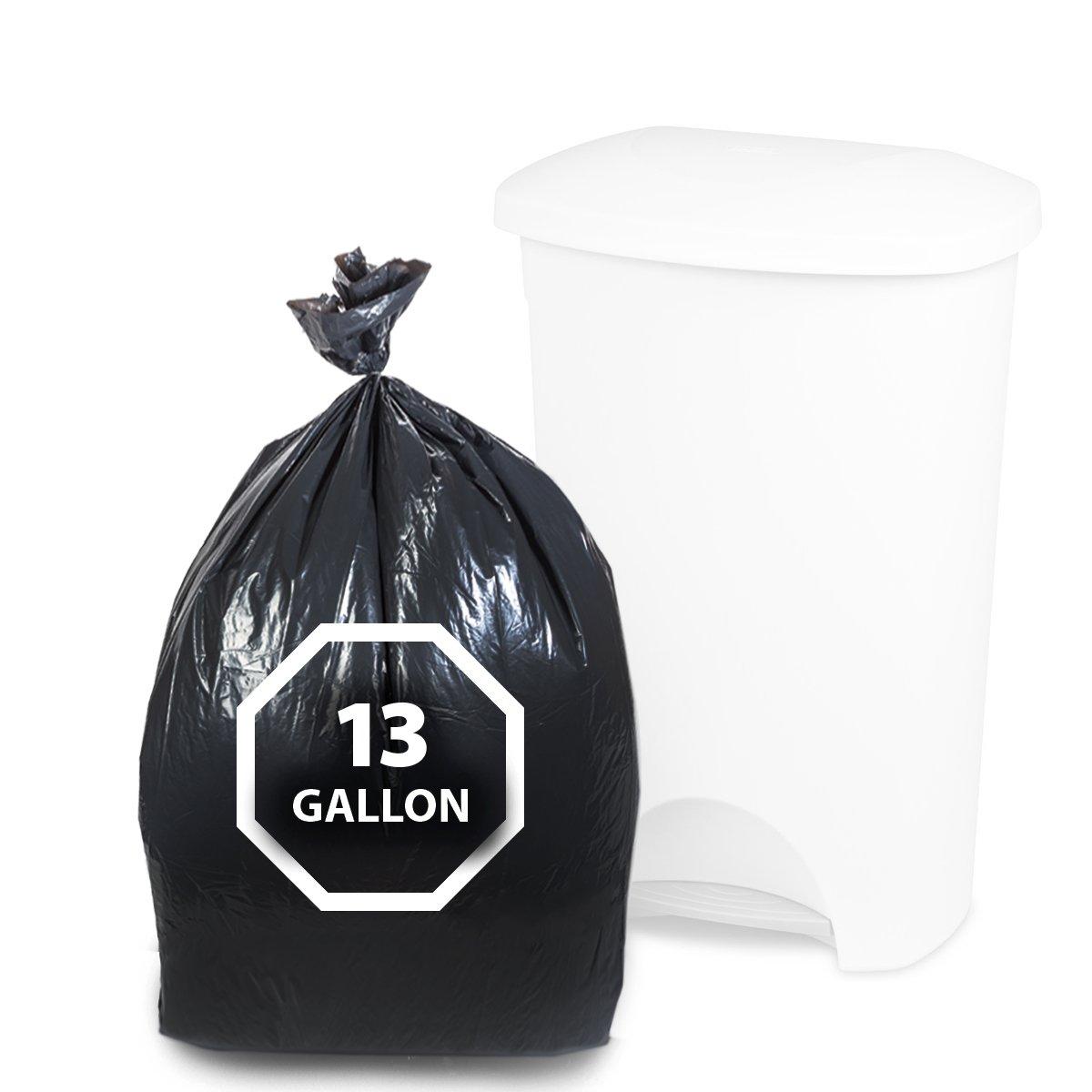 Amazon.com: Dualplex Tall Kitchen Trash Bags 13 Gallon 200 Count ...