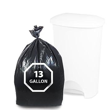 "Dualplex Tall Kitchen Trash Bags 13 Gallon 200 Count Black Garbage Bag 24""  X 31"""