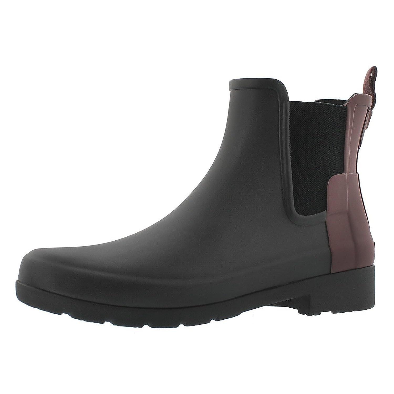 Hunter Original Refined Chelsea Black/Dulse Women's Boots