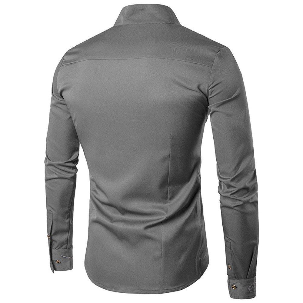 Yazidan Herren BeiläUfig IrreguläR Slim Fit Lange äRmel Hemd Bluse Oberteile Stickerei T Shirt Hemden Kurz Kapuzenpullover Mit Kapuze Sweatshirt Jacke