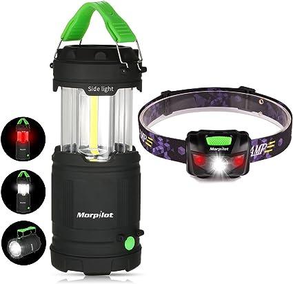 Flashlight Camping LED Emergency Light Set Lantern and Headlamp Combo 3 Pack