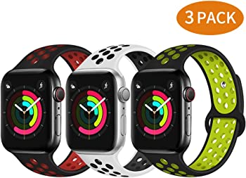 3-Pack Bravely klimbing Soft Silicone Apple Watch Band