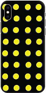 Stylizedd iPhone XS Max Slim Snap Classic Case Cover Matte Finish - Yellow Dots