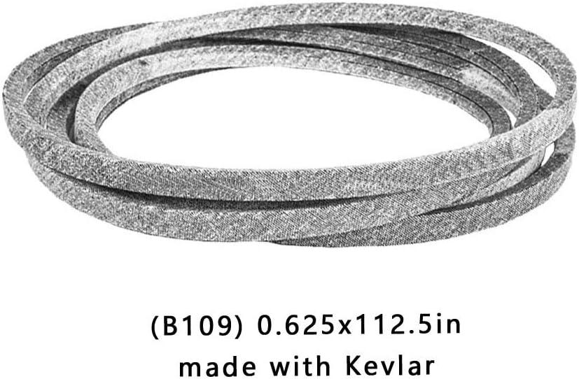 Correa de cortacésped Kevlar para MTD Cub Cadet Toma de fuerza KEVLAR Tractor de cortacésped con correa en V 954-3055A 754-3055 (5/8