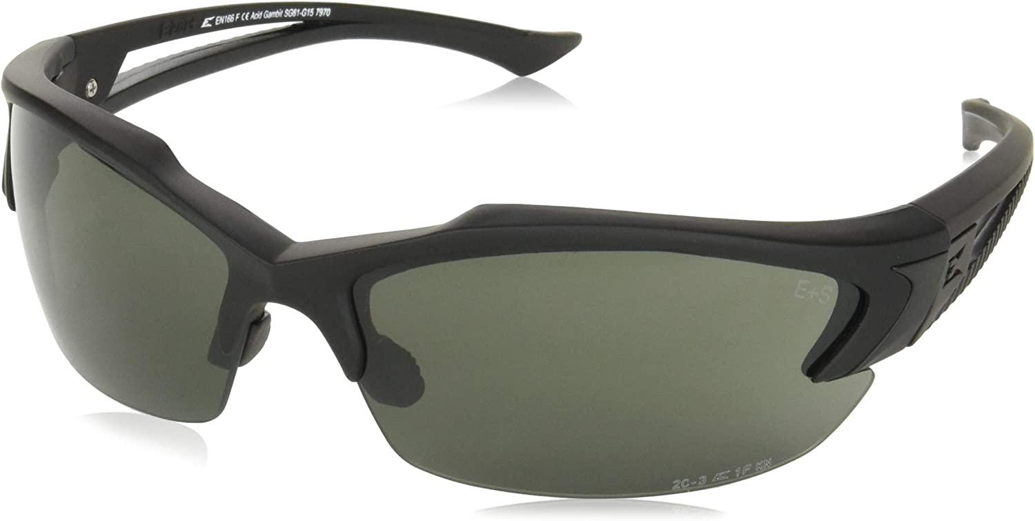 Edge Tactical Eyewear SG61-G15 Acid Gambit Matte Black with G-15 Lens