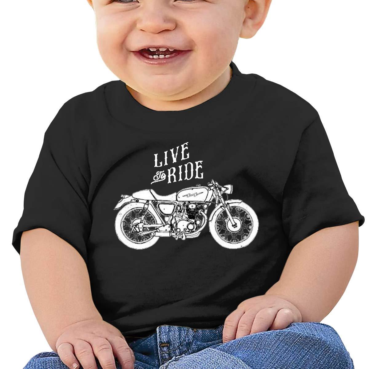 Custom Motorcycle Inspired Toddler Short-Sleeve Tee for Boy Girl Infant Kids T-Shirt On Newborn 6-18 Months