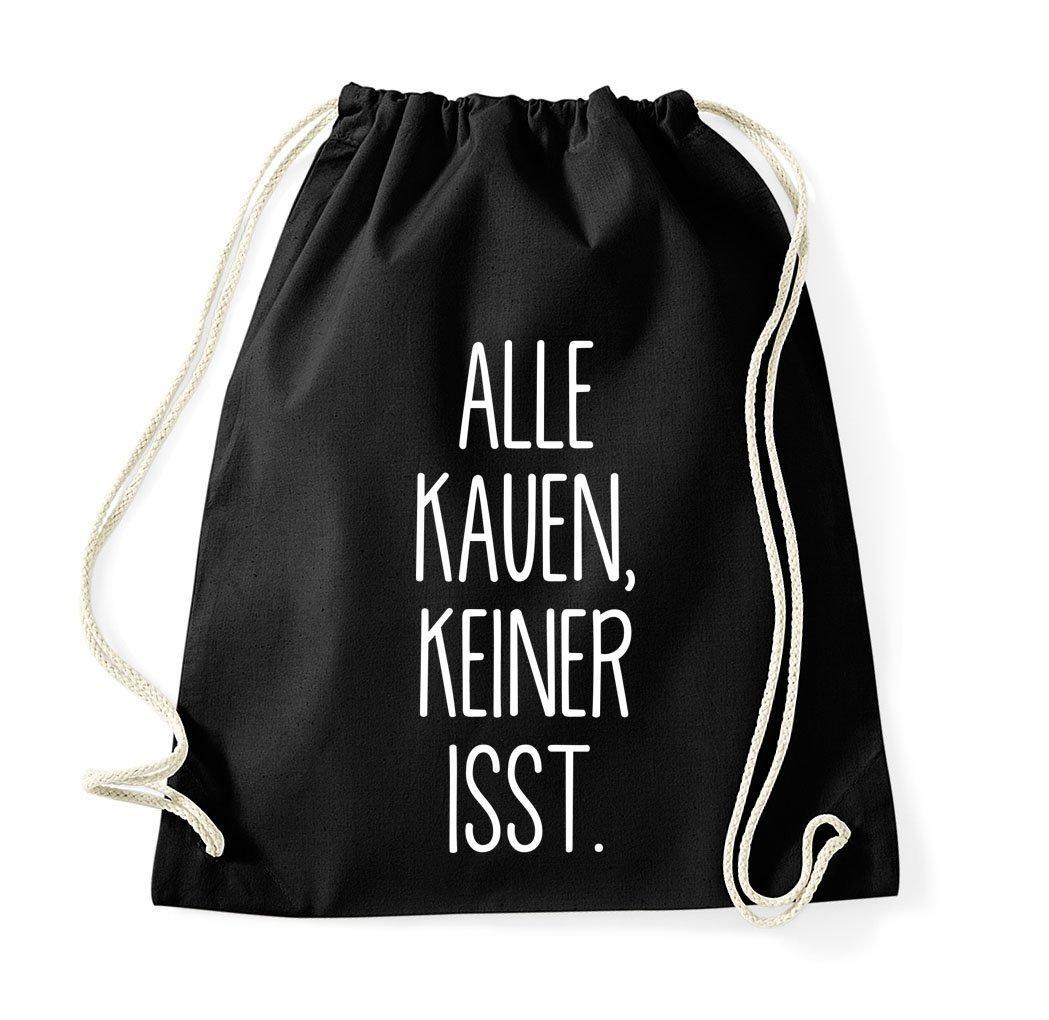 Beutel Tasche Rucksack Jutebeutel Tasche Sportbeutel Tasche Fashion Hipster Youth Designz Turnbeutel Tasche mit Spruch viele verschiedene Spr/üche /& Designs