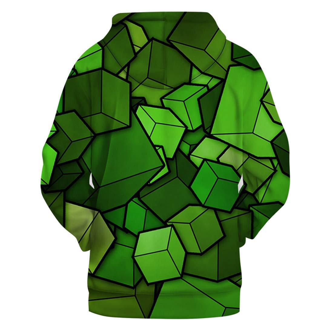 NATUOWFRUQ Color Block 3D Print Sweatshirt Hoodie Tracksuit Hooded Outerwear
