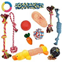 Ozpaw Dog Rope and Plush Chew Toys for Aggressive Chewers - Set of 12
