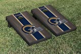 NFL Los Angeles Rams Onyx Stained Stripe Version Football Cornhole Game Set, 24'' x 48'', Multicolor