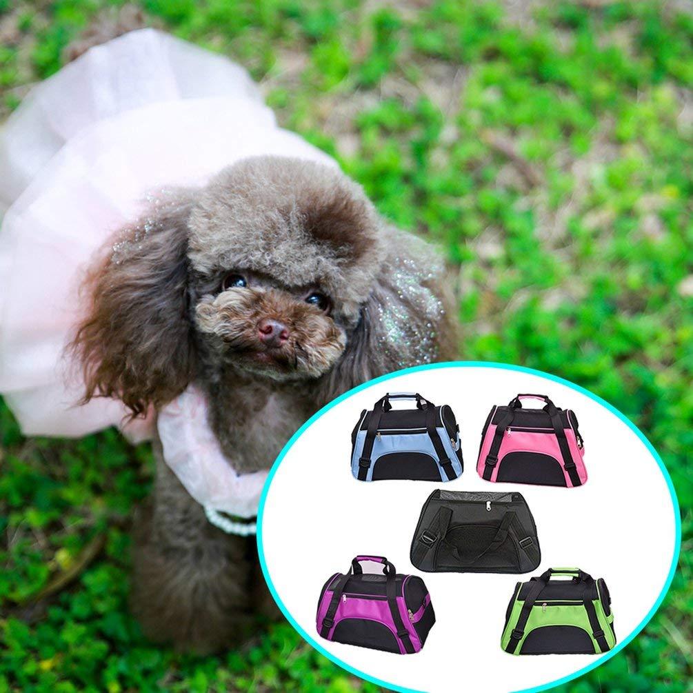 Negro L Nihlsen Mochila Liviana para Mascotas Bolsas de Mensajero para Mascotas Bolsas de Viaje para Perros para Perros Bolsas de Viaje salientes Bolso Transpirable para Mascotas