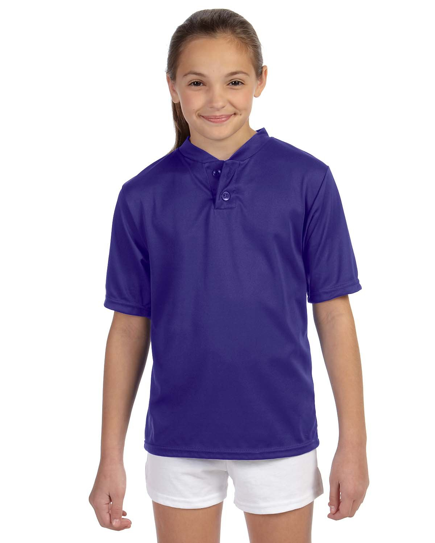 Augusta Sportswear SHIRT ボーイズ B00BN4DR4I Large|パープル パープル Large
