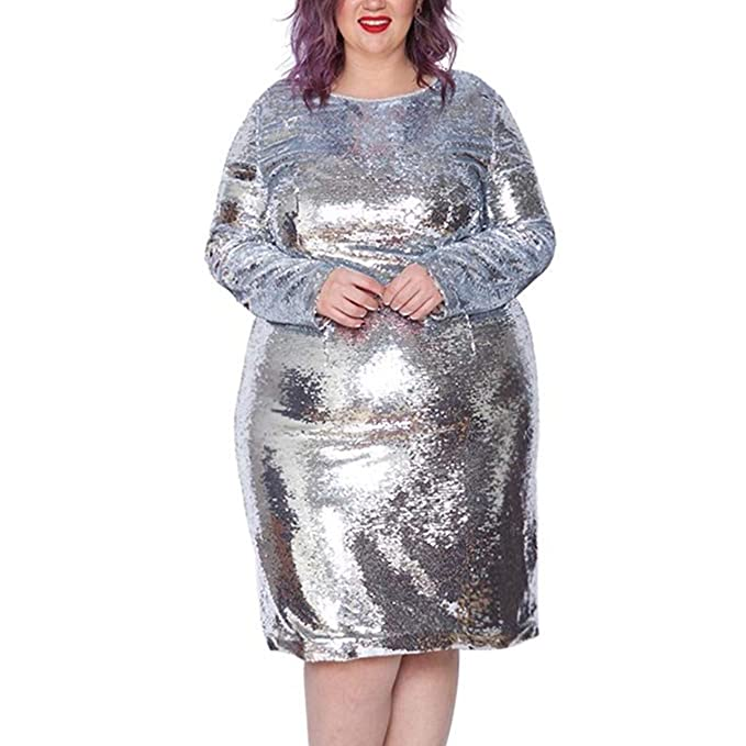 Astra Signature Women\'s Plus Size Glitter Long Sleeve ...
