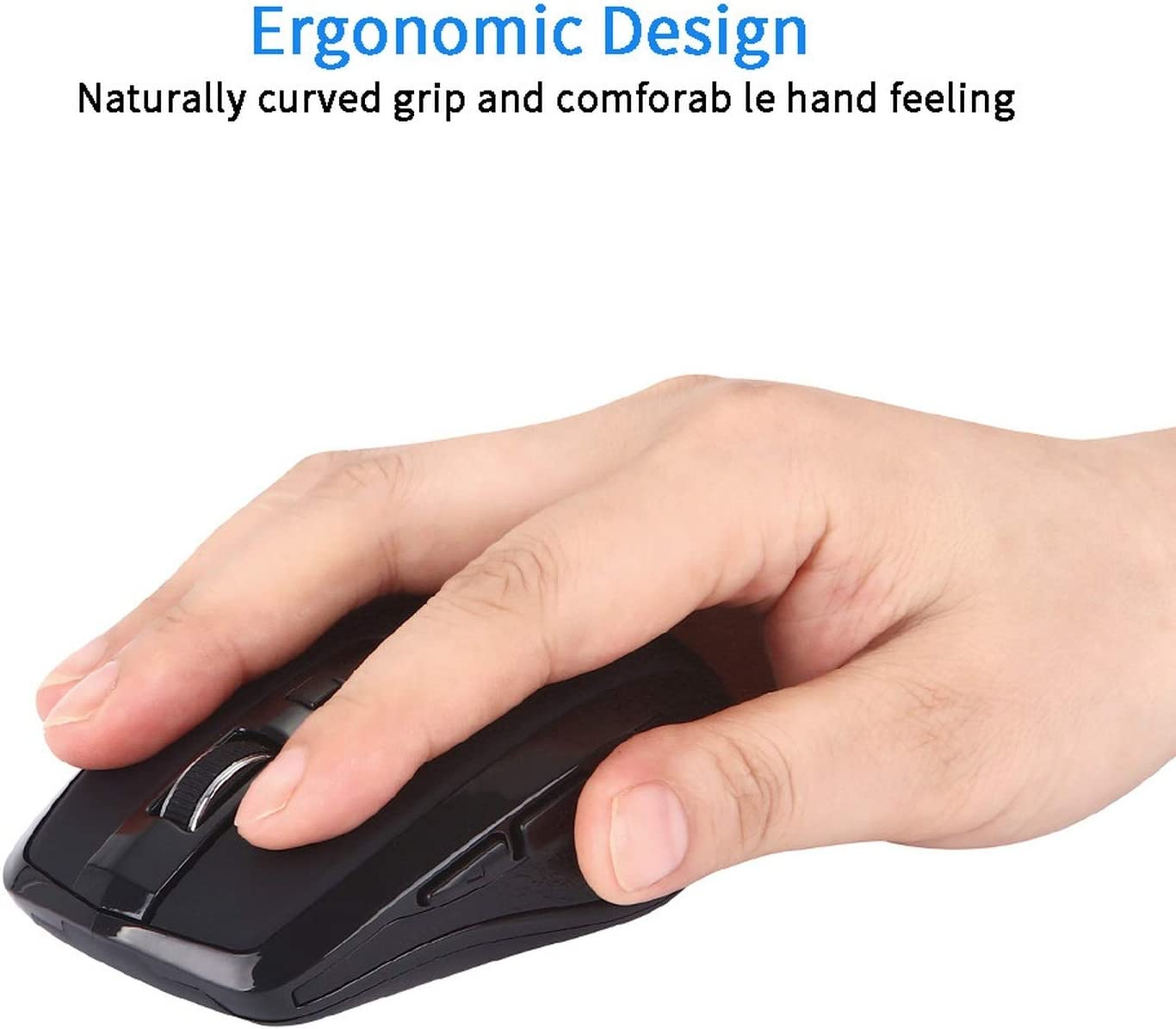 2.4GHZ Type C Wireless Mouse USB C Mice for MacBook//Pro USB C Devices Mini Mice USB Receiver for Laptop PC Desktop,