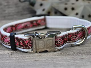 product image for Diva Dogs UBS39 Boho Pink Dog Collar - Teacup Sized