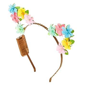 Amazon.com   Claire s Light Up Pastel Flower Cat Ears Headband ... d1b235a184c