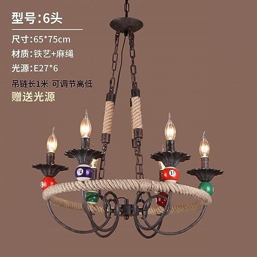 BESPD American Retro lámparas colgantes decorativas Billar ...