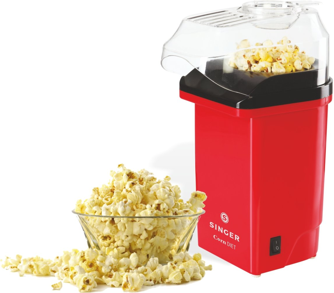Singer Corn Diet, 1200 W Snacks Maker (Red)