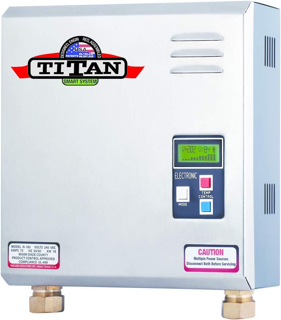 SCR4 N-180 Titan Tankless Water Heater, 77 amp, 18 kW.