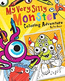 my very silly monster coloring adventure a very silly coloring book for very silly - Monster Coloring Book