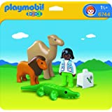 Playmobil - 6744 - 1.2.3 - Veterinaire + Animaux sauvages
