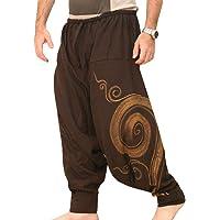 EUFANCE Hombre Pantalones Harem Cómoda Cintura Elástica Pantalones Moda Color Sólido Casuales Yoga Hippies Pantalones