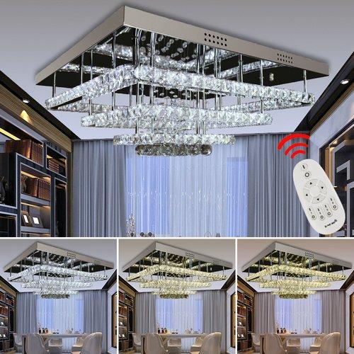 VINGO® 96w LED Deckenleuchte Geschäft Luxus Kristall Hängeleuchte ...