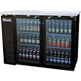 """Migali C-BB48G 49"""" Competitor Series Commercial Back Bar Cooler with 11.8 cu. ft. Capacity Glass Door Corrosion Resistant Exterior Aluminum Interior and LED Lighting in"""
