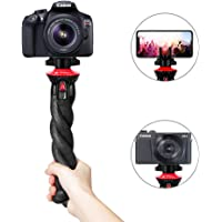Fotopro Flexible Tripod, Camera Tripod with Phone Tripod Mount, Wrappable Leg Tripod, Action Video Tripod, Lightweight Mini Camera Tripod Stand for Mirrorless Cameras DSLR Sony Nikon Canon (UFO Basic)