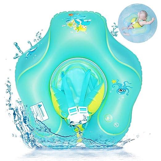 RuoCherg Flotador de Natación para Bebés, Anillo de Natación Bebé Juguetes de Piscina Inflable de Piscina Nadar Anillo para Niños Bebés para ...