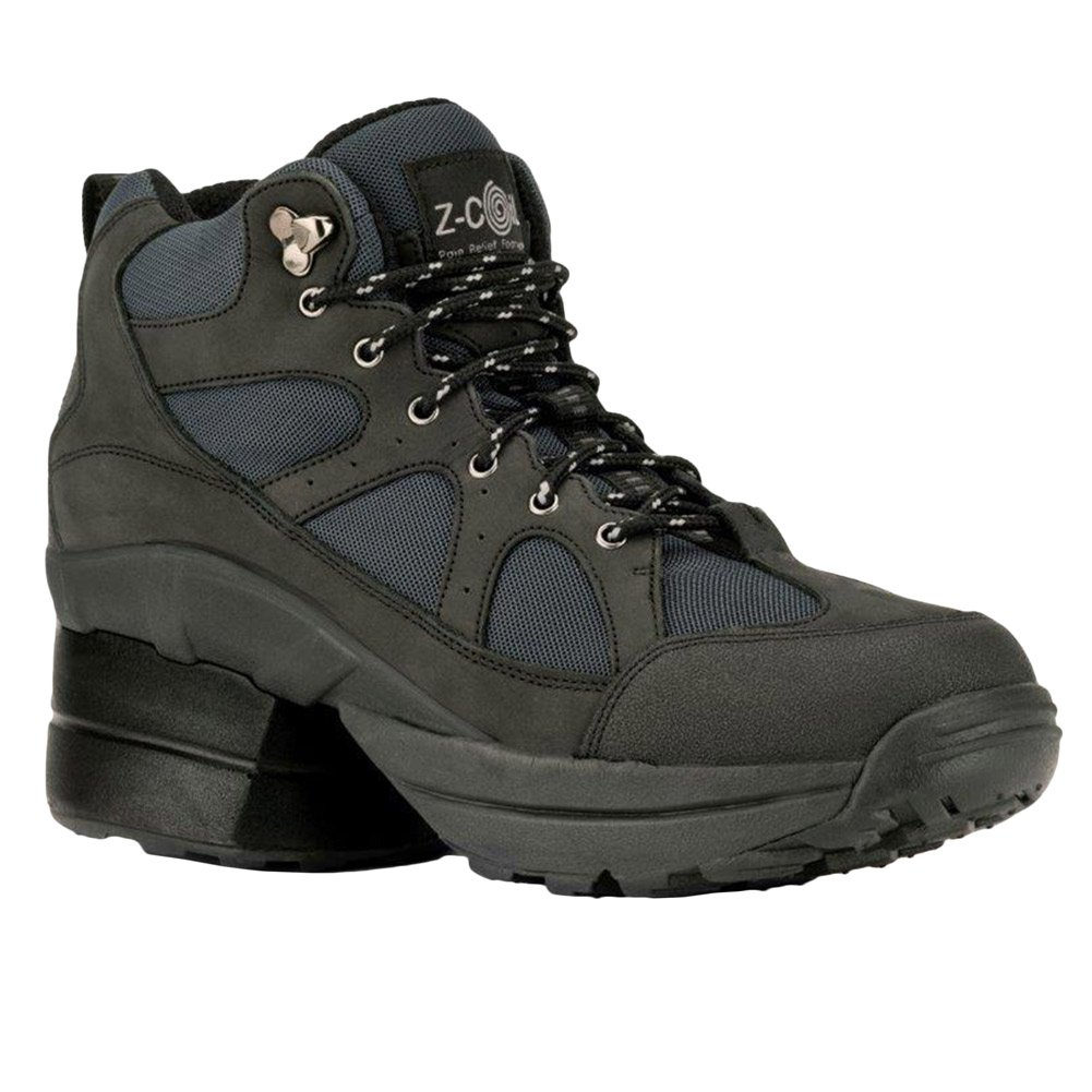 Z-CoiL Pain Relief Footwear Women's Outback Hiker Enclosed Coil Black Boots B017YEFRGG 7 E US|Black