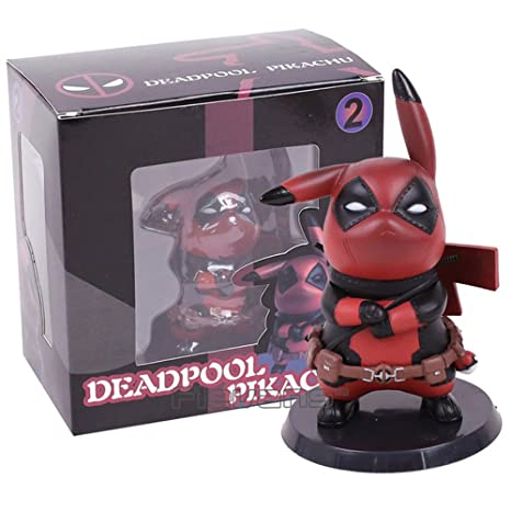 bcc4c8e99 Amazon.com: Pikachu in Deadpool Cosplay - Deadpool Pikachu Figure -  Complete with Box: Toys & Games