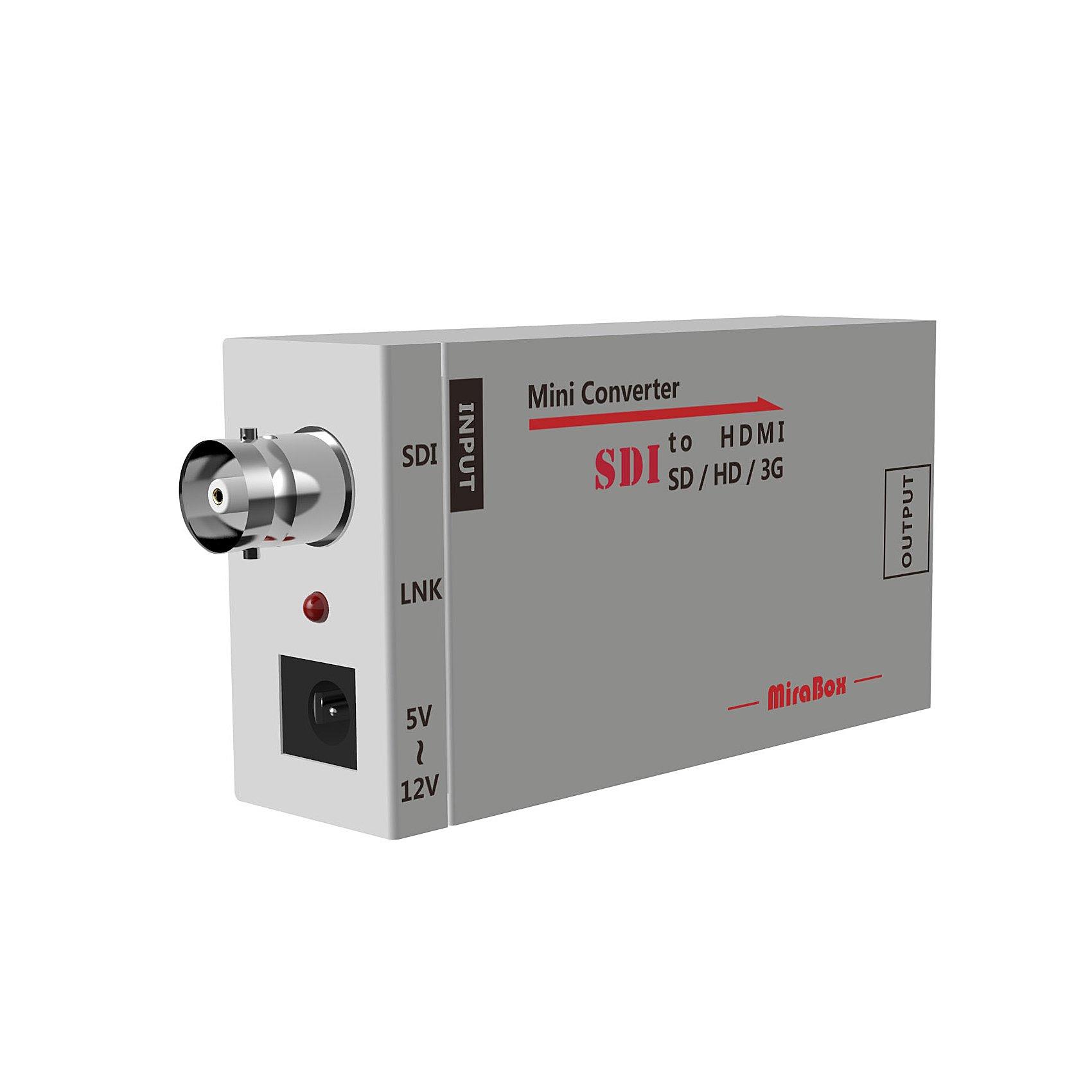 Basicolor SDI to HDMI Converter Mini 3G SDI HDMI Adapter Support Full HD 1080p SD-SDI/HD-SDI/3G-SDI BNC to HDMI Adapter Mini HD Video Converter (Grey) by Basicolor