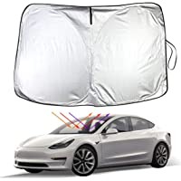 Model 3 Model Y Front Windshield Sunshade Car Auto UV and Sun Protection Front Sun Shade for Tesla Model 3 Model Y(Front…