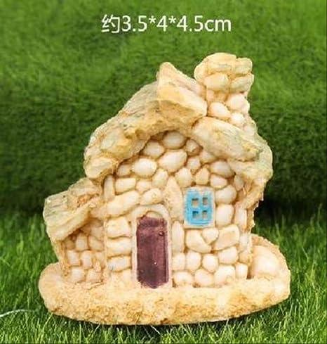 KWOSJYAL 1 Piezas De Casa De Piedra Jardín De Hadas Miniatura Artesanía Micro Cabaña Decoración del Paisaje para Manualidades De Resina DIY D: Amazon.es: Hogar