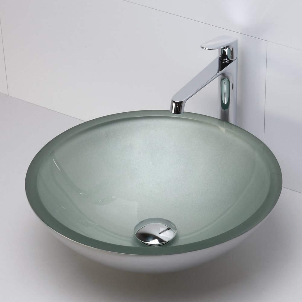 Decolav 1019T PCO Translucence Tempered Glass Vessel Sink, Copper      Amazon.com
