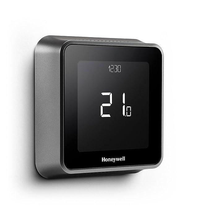 Honeywell Lyric T6 Wi-Fi Termostato Con verdrahteter Receptor Caja, montaje en pared, 1 pieza, Negro, y6h810wf1005: Amazon.es: Bricolaje y herramientas