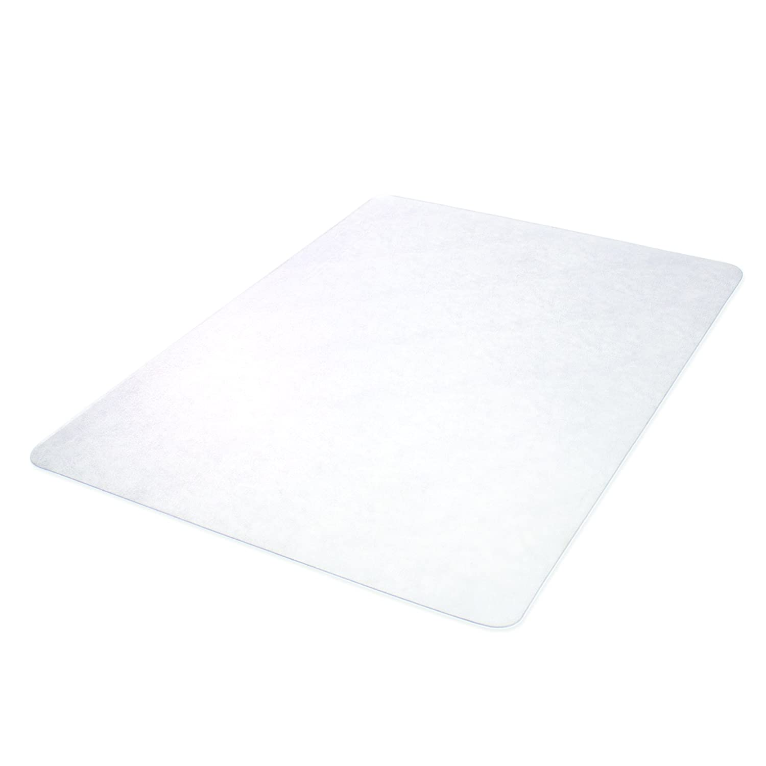Deflecto SuperMat Clear Chair Mat, Hard Floor Use, Rectangle, Beveled Edge, 45 x 53 Inches CM24243