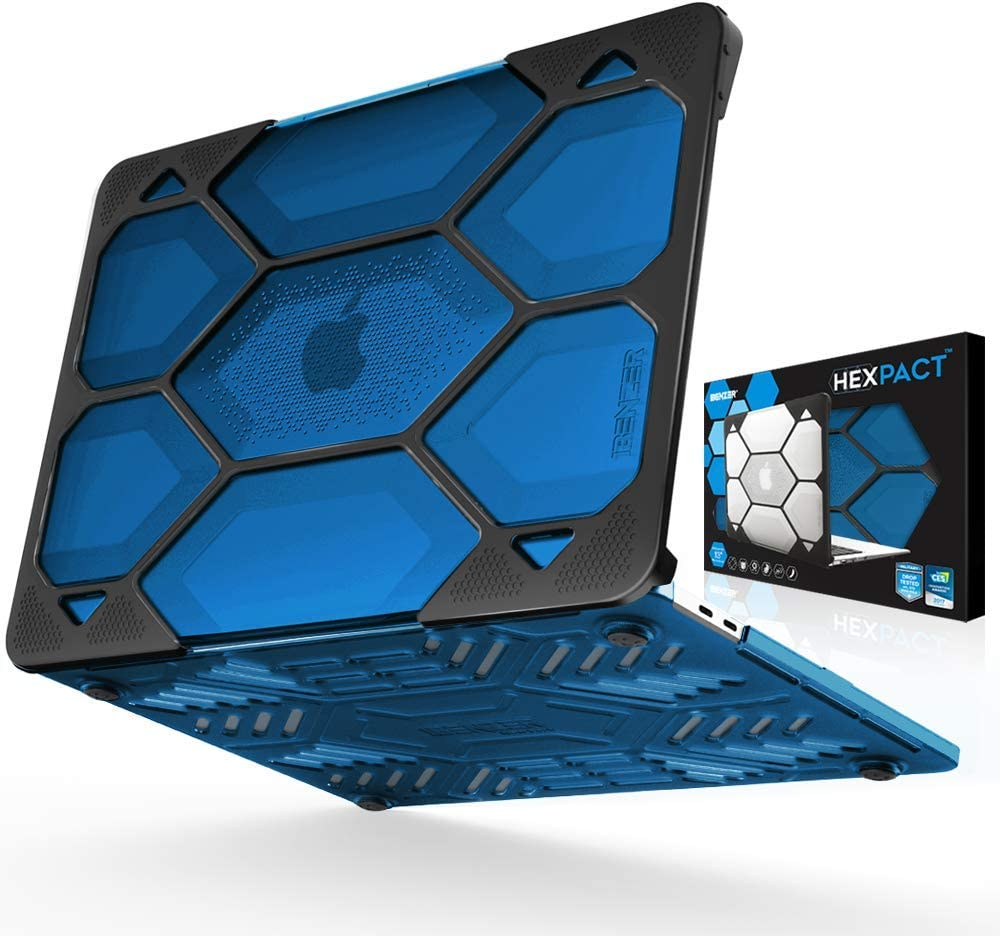 IBENZER Hexpact MacBook Pro 13 Inch Case 2015 2014 2013 2012 A1502 A1425, Heavy Duty Protective Hard Shell Case Cover for Old Version Apple Mac Pro Retina 13, Blue, HR13CYBL