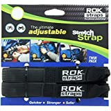 "ROK Straps ROK-10314 Black 12"" - 42"" Pack Adjustable Stretch Strap"