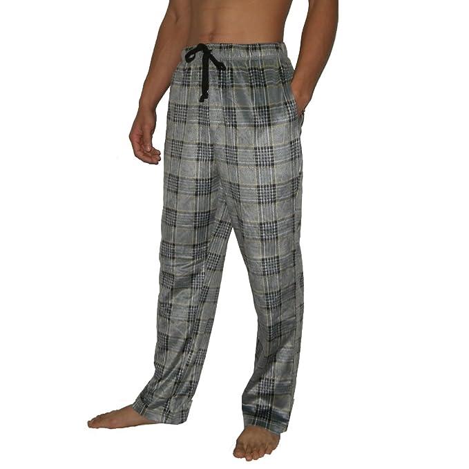 Hombre Nautica Cómodo Fit Plaid Polar Fleece Thermal Ropa de Noche/Pijama Pantalones gris L