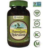 Pure Hawaiian Spirulina-500mg Tablets 400ct - Better than Organic - Vegan, Non-GMO, Non-Irradiated - 100% Hawaii Grown - Superfood Supplement & Natural Multivitamin