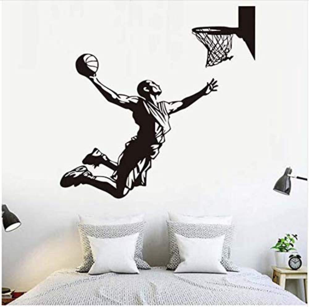 Removable Wallpaper Basketball Player Wall Sticker Sport Boys Name Vinyl Sticker