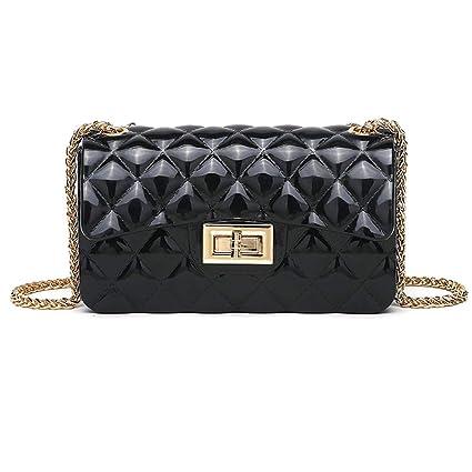 fb1aef7bda6528 YLSX Small Gold Chain Retro Shoulder Bag Mini Cross Body Pu Leather Quilted  Twist Lock Women