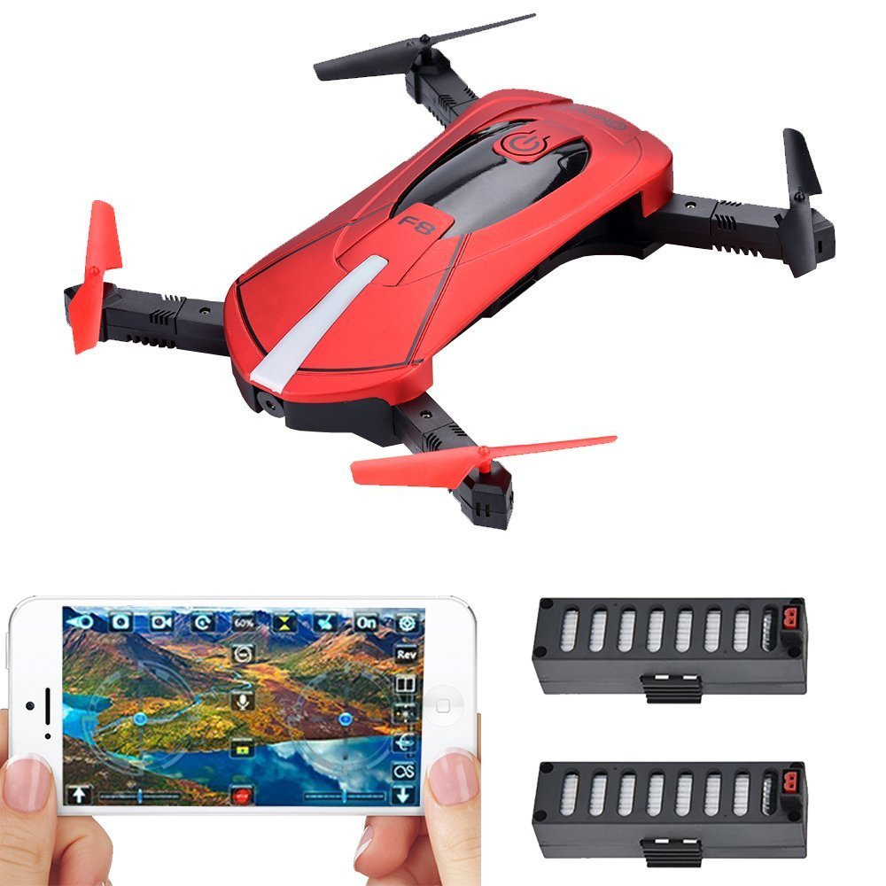 Contixo F8 Foldable Pocket Size Selfie Drone Voice Controls