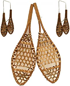 "Snowshoe Wall Decoration Lodge Decor 15"" Set Plus 2 Pair Snowshoes Ornaments"