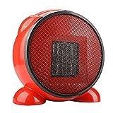 Portable Space Heater Mini for Home Office 500 Watt Black Ninonly Fashion Cartoon Fan Desktop Heater with PTC Ceramic Low - Power Warmer Red