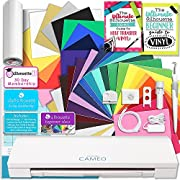Silhouette CAMEO 3 Bluetooth Creative Bundle with 12 Oracal, 651 Sheets and 12 Siser Easyweed Heat Transfer Sheets